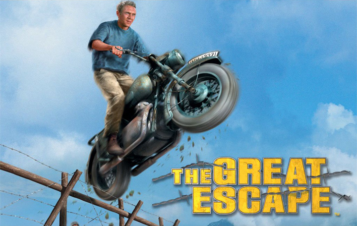 The Great Escape Steve McQueen on Motorcycle